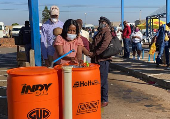 G.U.D. Holdings develops innovative hand-wash station at taxi ranks